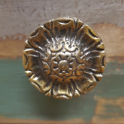 Brass Patterned Knob