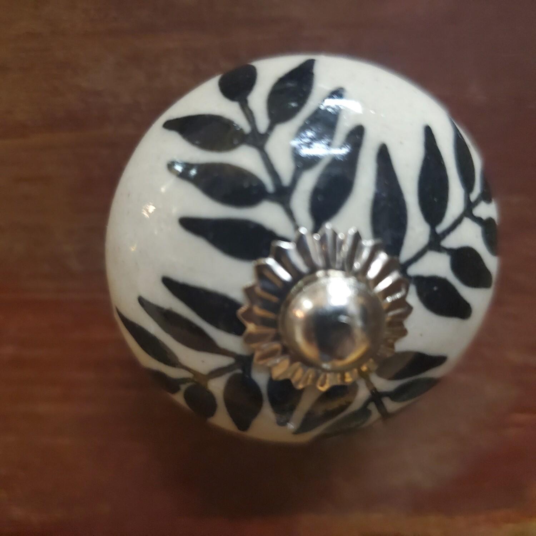 Porcelain Patterned Knob