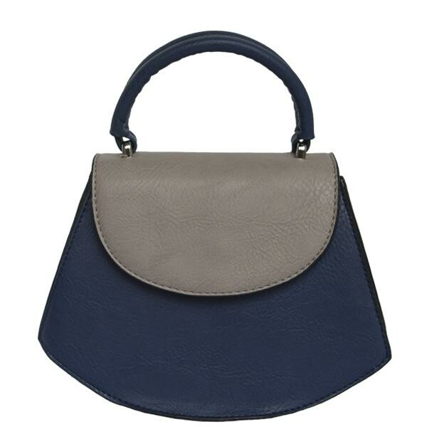 K. Carroll Kim Two-Tone Mini Satchel - Blue/Grey