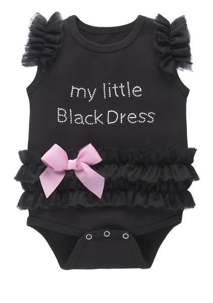 GANZ Little Black Dress Onesie