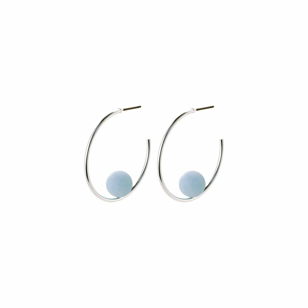 Pilgrim Earth Collection Aquamarine Earrings