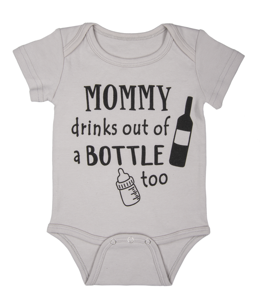 GANZ Mommy Drinks From a Bottle Too Onesie