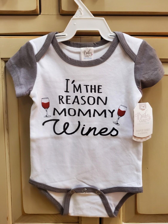 GANZ I'm the Reason Mommy Wines Onesie