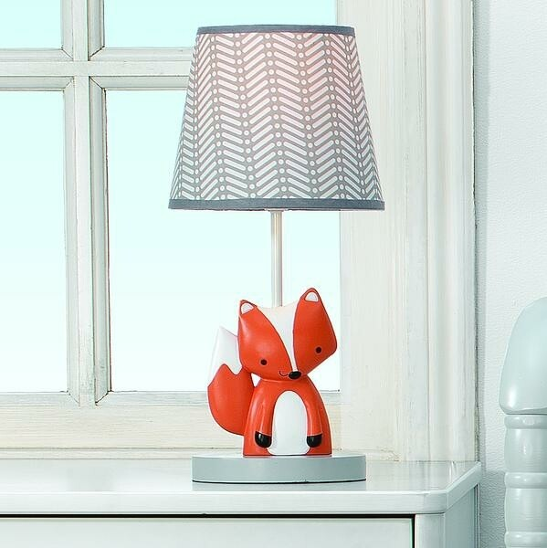 Acorn Lamp With Shade & Bulb