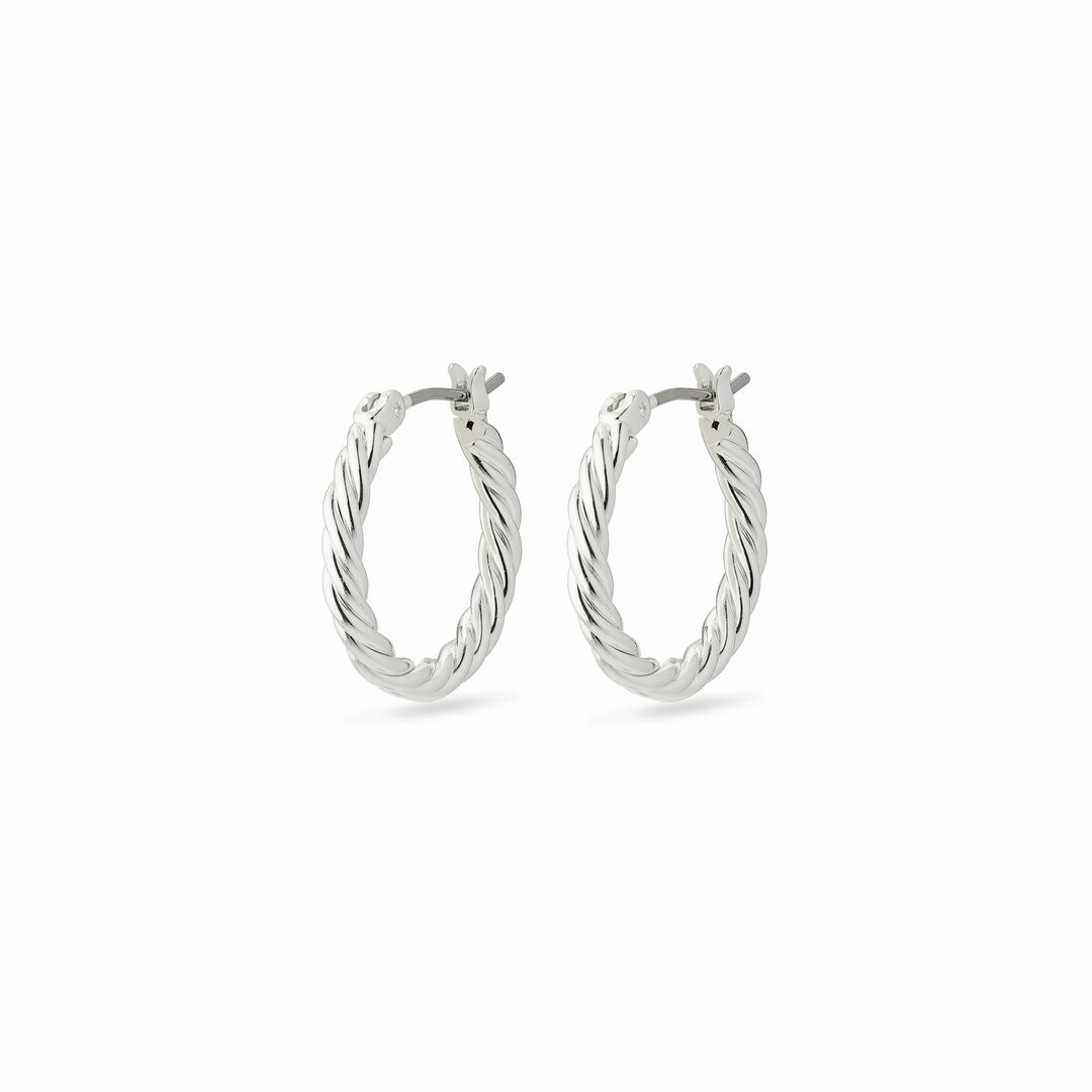 Pilgrim Silver Cece Hoop Earrings