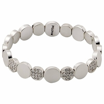 Pilgrim Silver Grace Crystal Bracelet