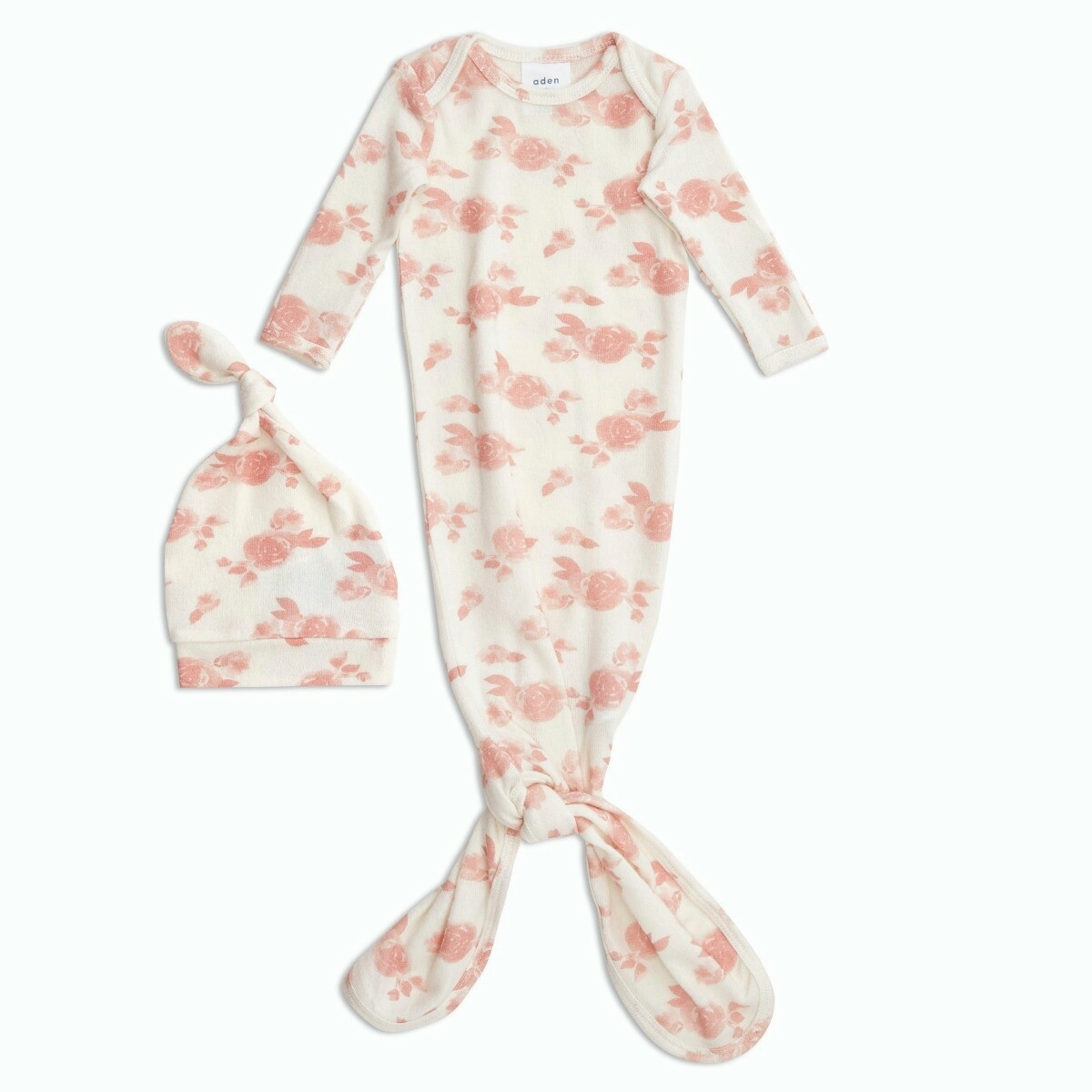 Aden + Anais - Rosettes Snuggle Knit Gown + Hat Set
