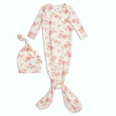 Aden + Anais - Rosettes Snuggle Knit Gown + Hat Set