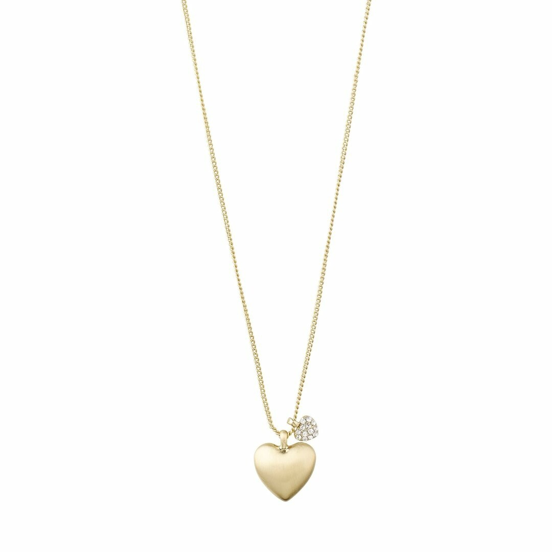 Pilgrim Gold Sophia Heart Necklace