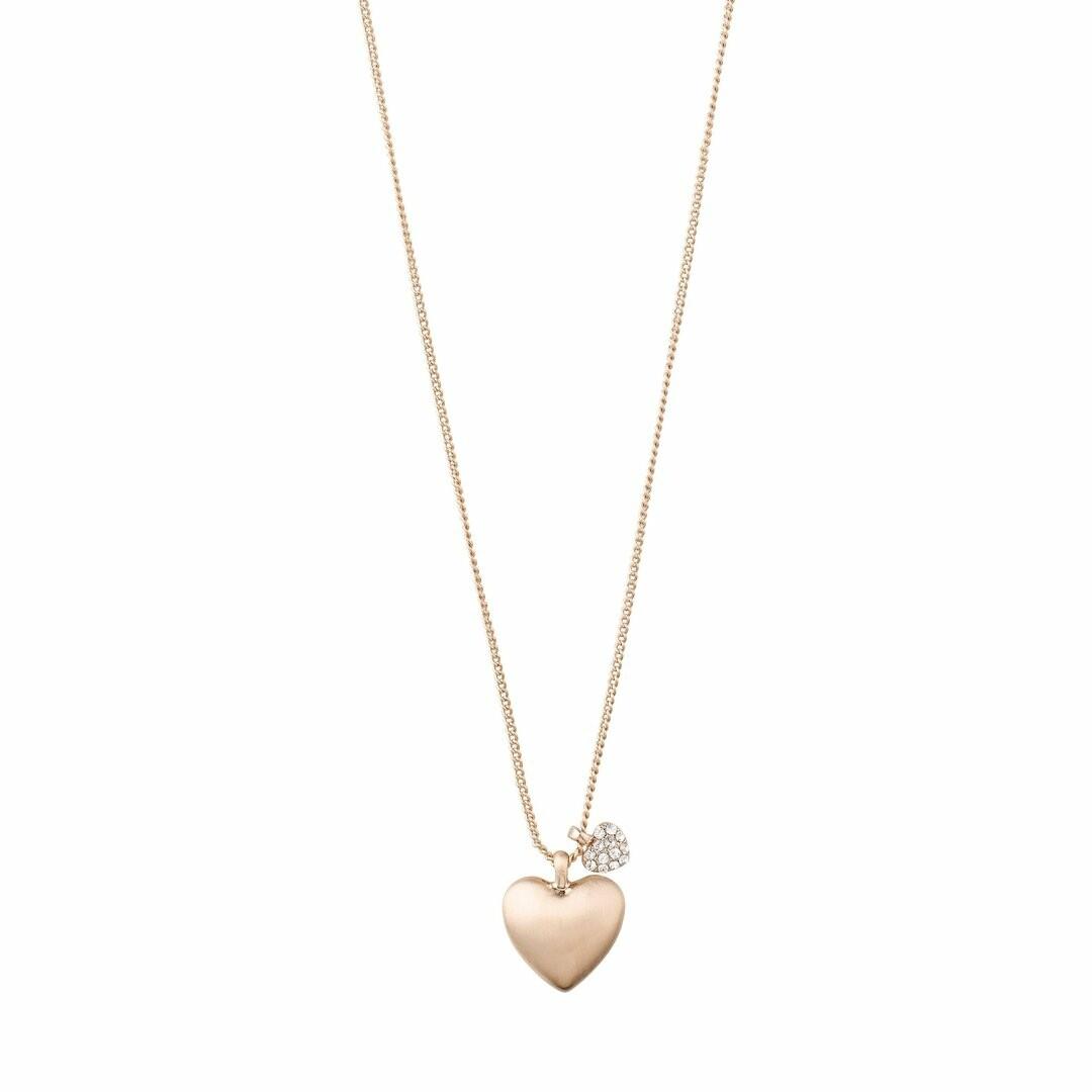 Pilgrim Rose Gold Sophia Heart Necklace