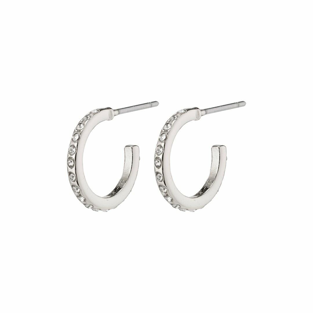 Pilgrim Silver Roberta Hoop Earrings