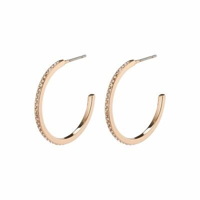 Pilgrim Rose Gold Roberta Hoop Earrings