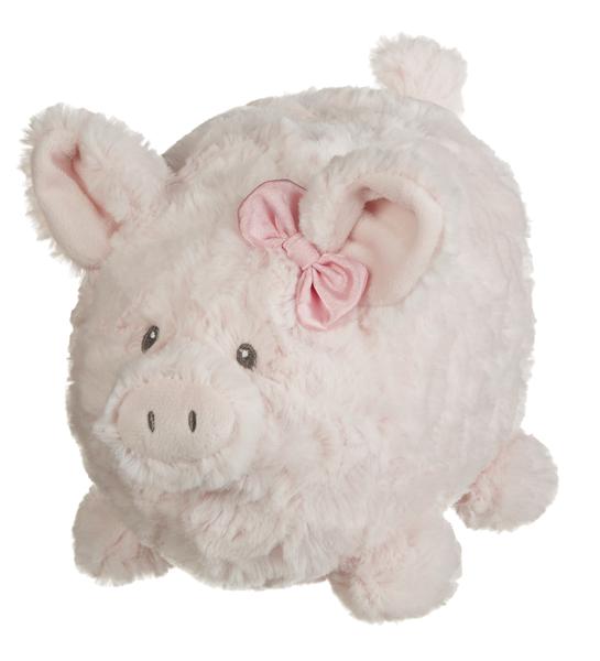 GANZ Penny Plush Piggy Bank - Pink