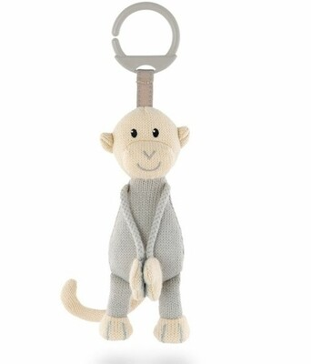 Matchstick Monkey Knitted Hanging Monkey - Grey