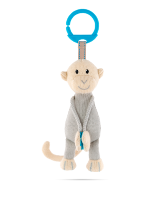 Matchstick Monkey Knitted Hanging Monkey - Blue