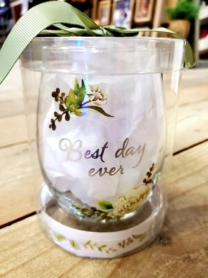 Best Day Ever - Stemless Wine Glass