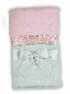 Bearington Bear - Silky Soft Crib Blanket (Paisley)