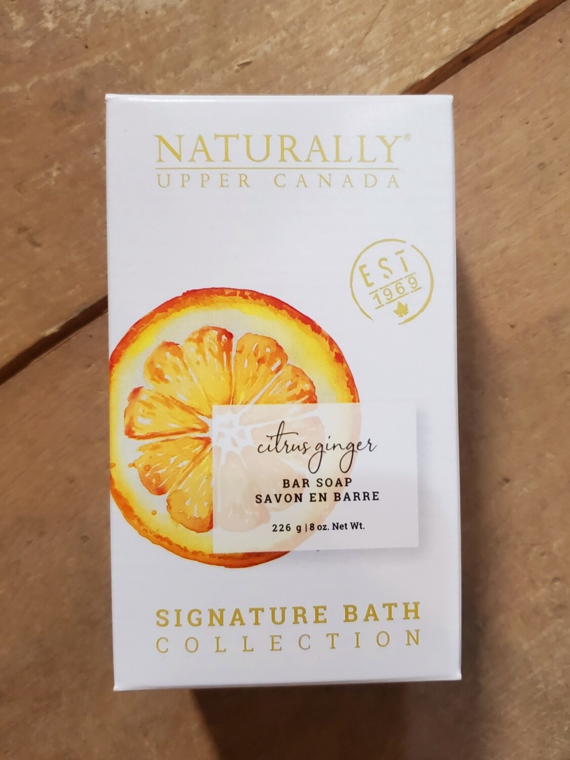 Naturally Upper Canada Bar Soap - Citrus Ginger