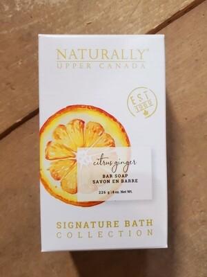 Naturally Upper Canada Bar Soap - Citrus Ginger