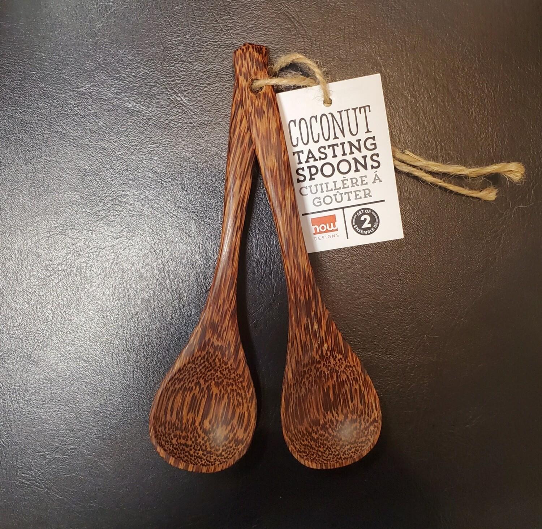 Now Designs Coconut Utencil Tasting Spoons Set/2