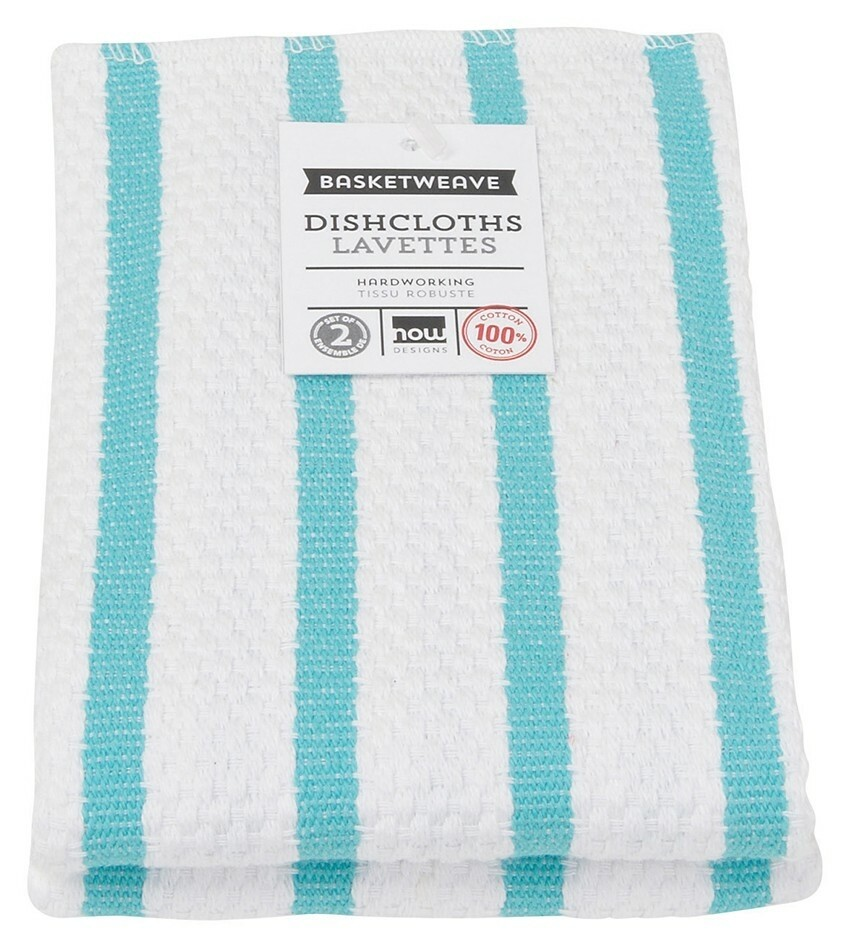 Now Designs Basketweave Dishcloths Set of 2 - Bali