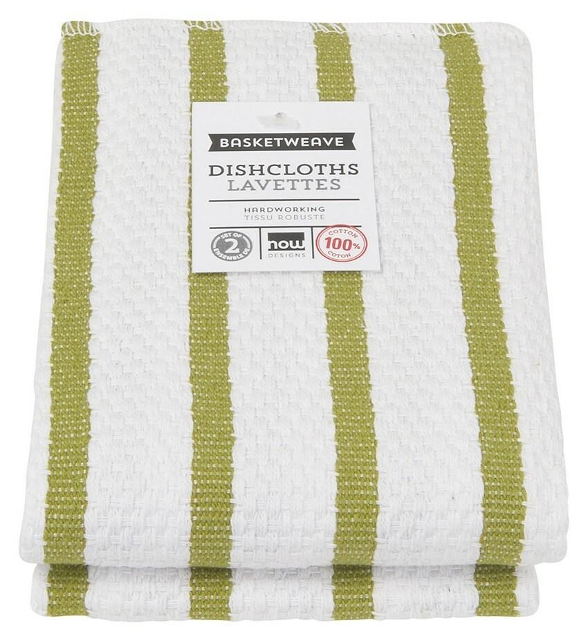 Now Designs Basketweave Dishcloths Set of 2 - Cactus