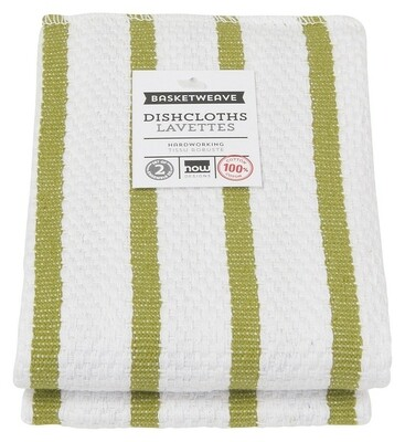 Now Designs Basketweave Dishcloths Set of 2 - Cactus