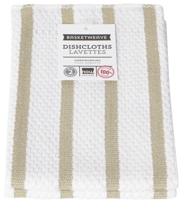 Now Designs Basketweave Dishcloths Set of 2 - Sandstone