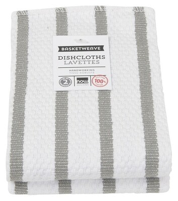 Now Designs Basketweave Dishcloths Set of 2 - London Gray