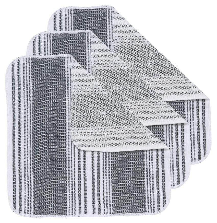 Now Designs Scrub-It Dishcloths (Set of 3) | Black