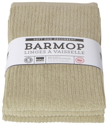 Now Designs Barmop Set of 3   Sandstone