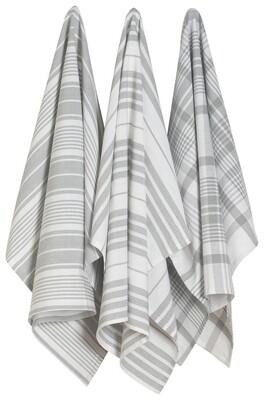 Now Designs Jumbo Dishtowel Set of 3 - London Gray