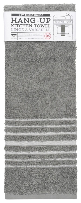 Now Designs Hang-Up Dishtowel - London Gray