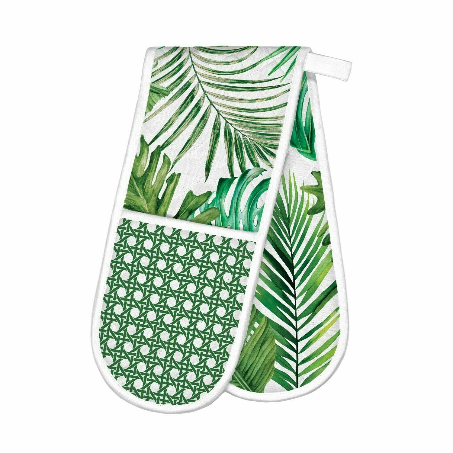 Michel Design Works Double Oven Gloves - Palm Leaves