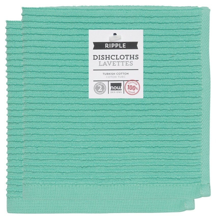 Now Designs Ripple Dishcloths Set of 2 - Lucite Green