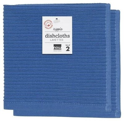Now Designs Ripple Dishcloths Set of 2 - Royal Blue
