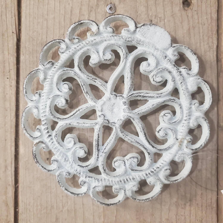 Cast Iron Antique White Trivet