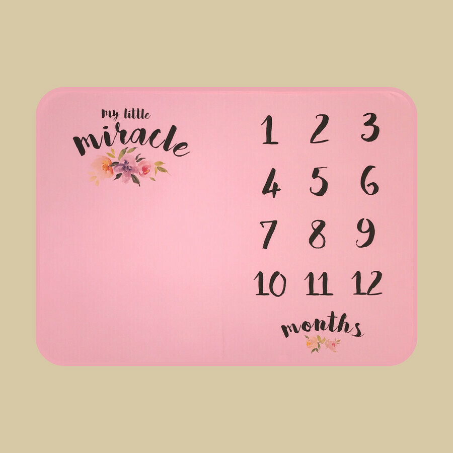 My Little Miracle Growth Blanket - Pink