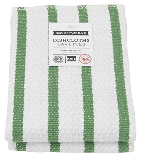 Now Designs Basketweave Dishcloths Set of 2 - Verde