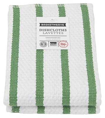 Now Designs Basketweave Dishcloths Set of 2 - Verde