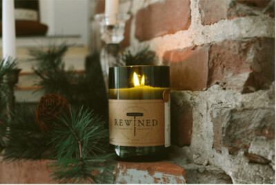 Rewined Candle Wine Under the Tree