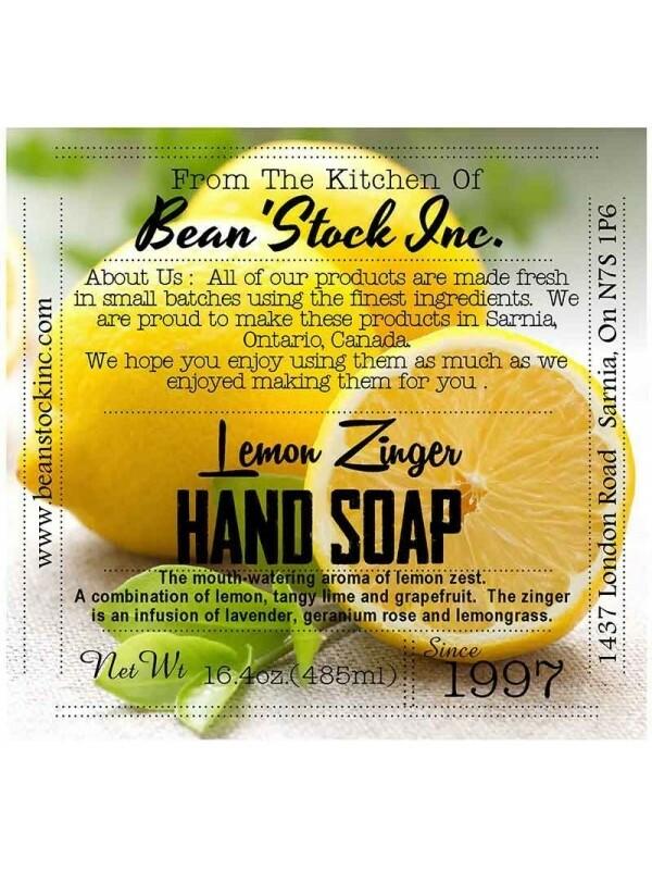 Bean'Stock Hand Soap | Lemon Zinger