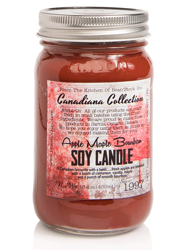 Bean'Stock Soy Candle | Apple Maple Bourbon