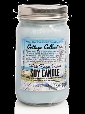 Bean'Stock Soy Candle | Pink Sugar Salsa