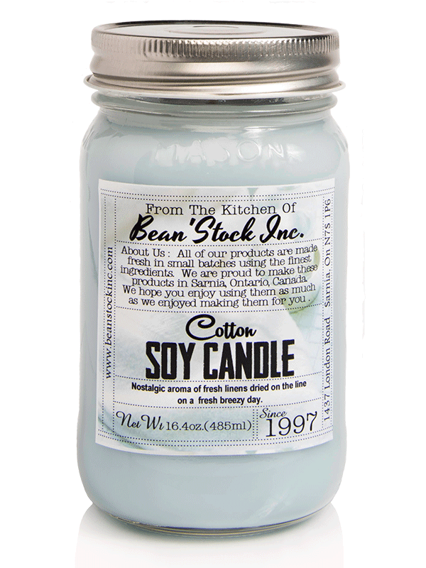 Bean'Stock Soy Candle | Cotton