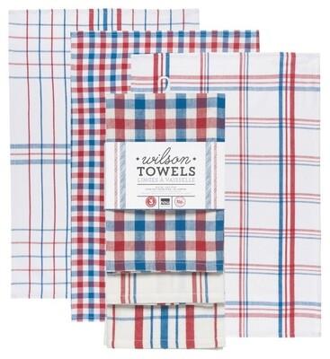 Now Designs Wilson Dishtowels Set Of 3   Blue