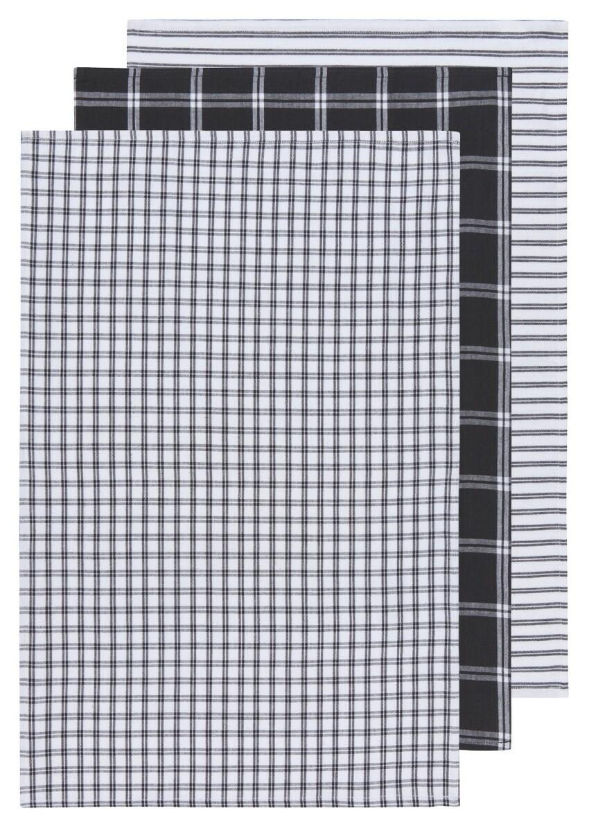 Now Designs Tic Tac Toe Dishtowels (Set of 3) | Black