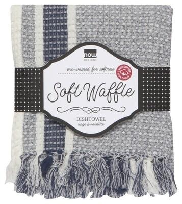 Now Designs Soft Waffle Dishtowel   Indigo