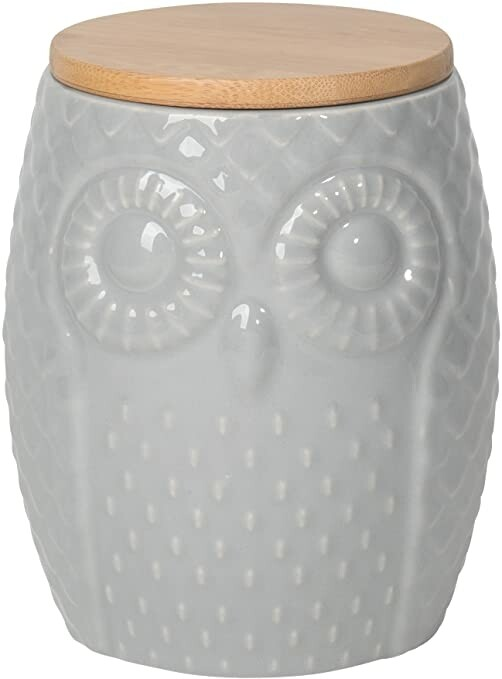 Now Designs Owl Canister | Gray Large