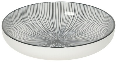 Now Designs Stamped Shallow Bowl | 7in. Black